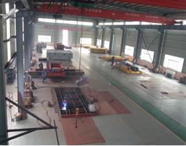 25 ton transfer cart on rails