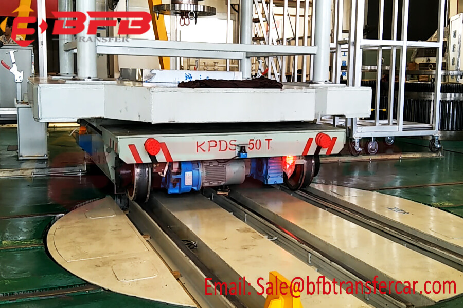 55 Ton Electrical Turntable Transfer Cart