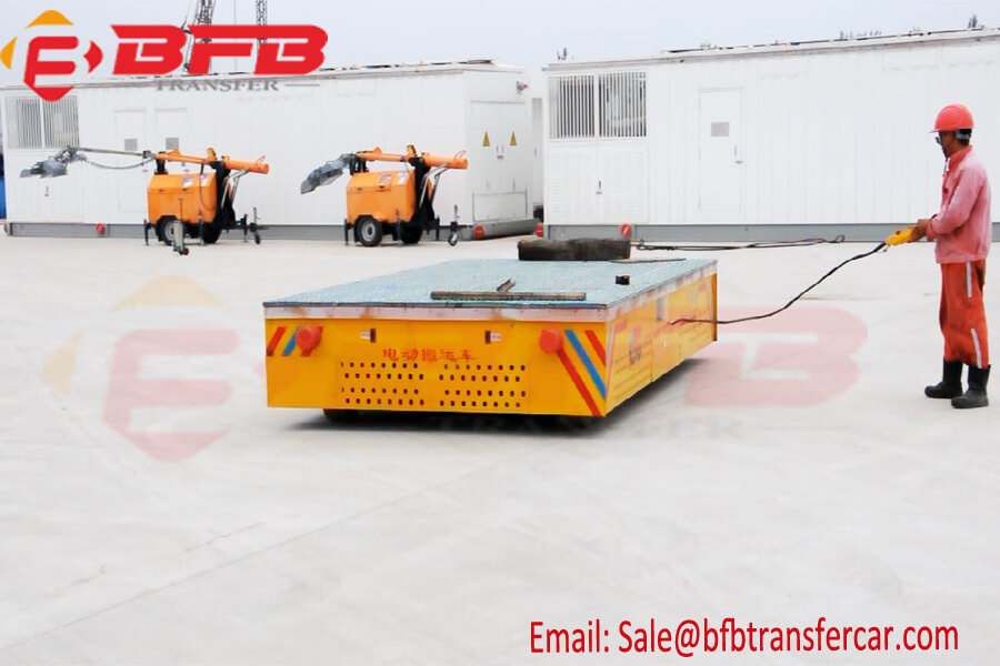 30t Trackless Transfer Cart for Port Container Handling Battery Power
