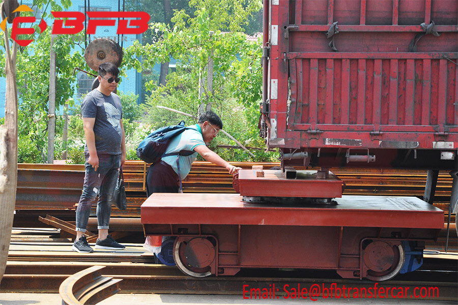 Heavy Duty Electric Platform Carrying Capacity 10-15 Tons Moving On Rails For Railway Towing Indonesia