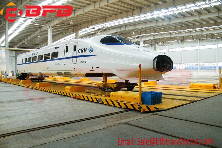Workshop Railway Traverses For Rail Car Facility 40T Busbar Powered Wireless Control