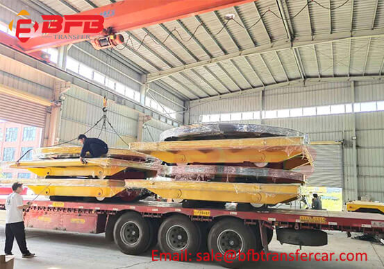 Customized Factory Rail Transfer Flat Cart For Spray Painting Booth - Anti-high Temperature