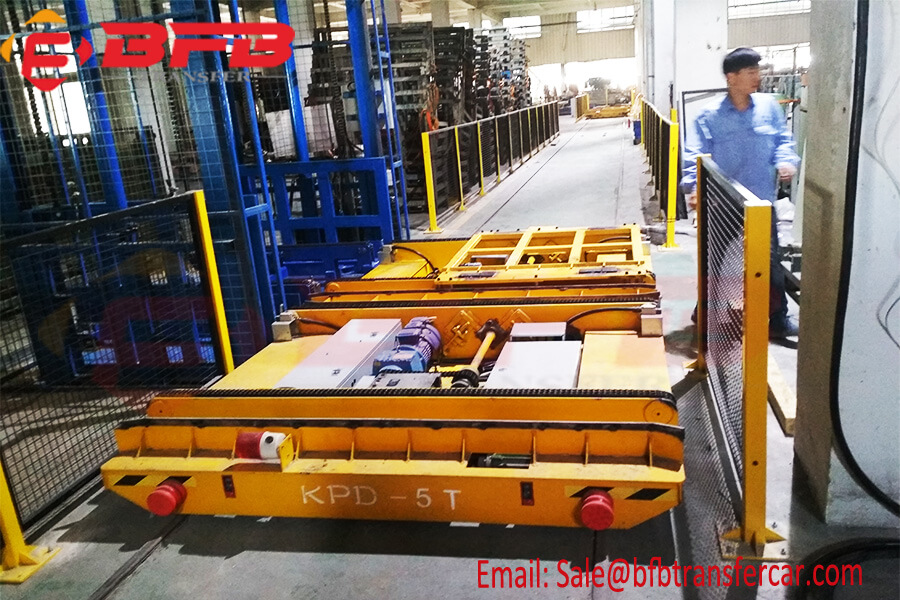 Automatic System 5t Industry Rail Transport Cart For Steel Plate Handling