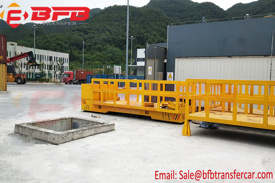 20 Ton Steering Flat Transfer Cart For Road Environmental Protection Equipment Carrying