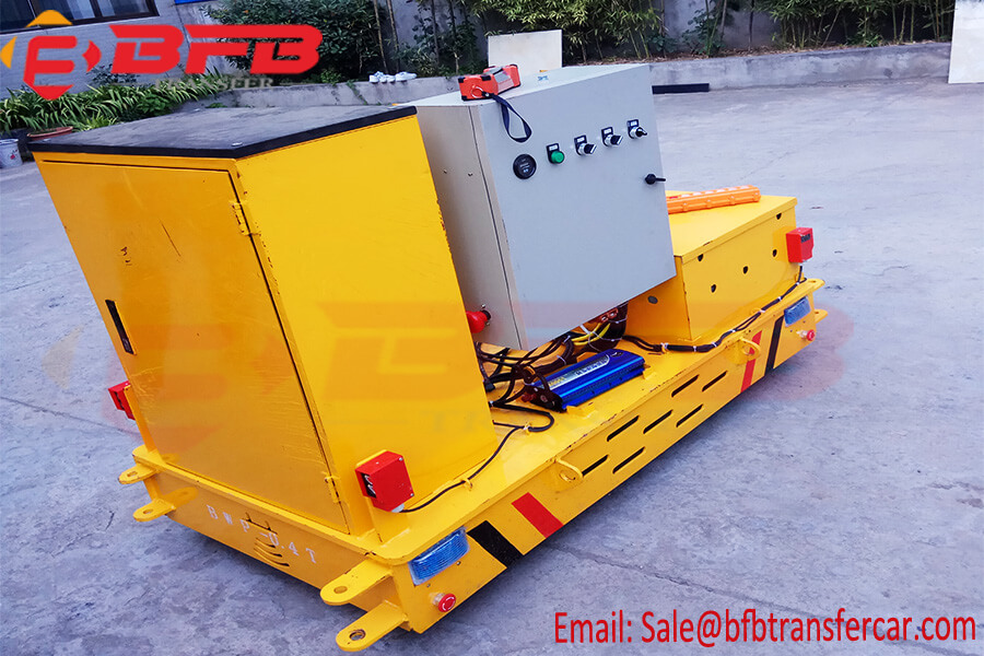 400kg Battery Power Steerable Trackless Transfer Cart For Superconducting Materials Handling