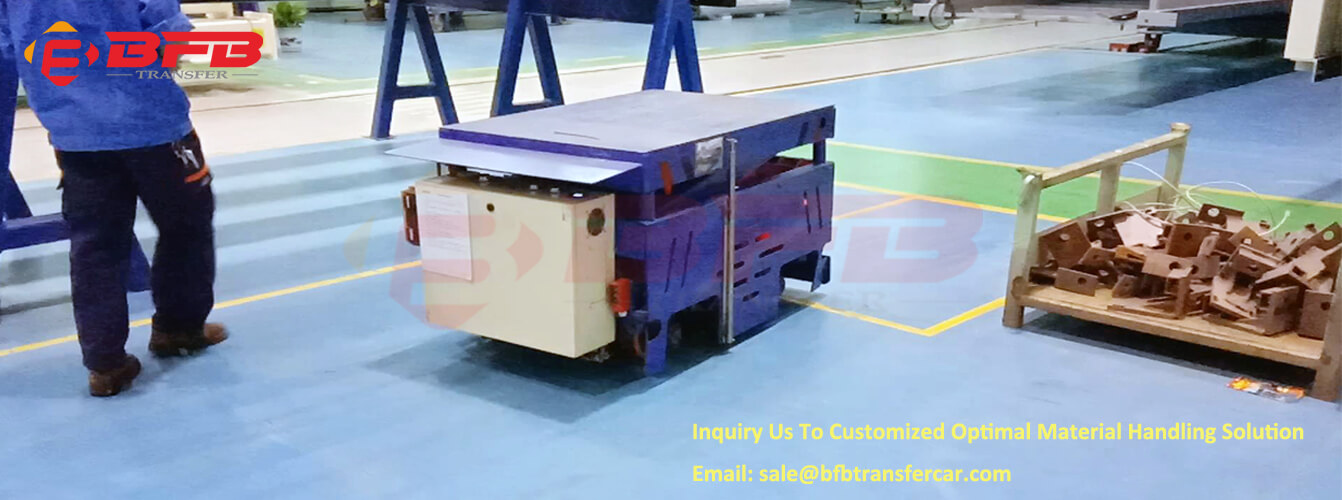 Trackless Transfer Cart For Vertical And Horizontal Movement