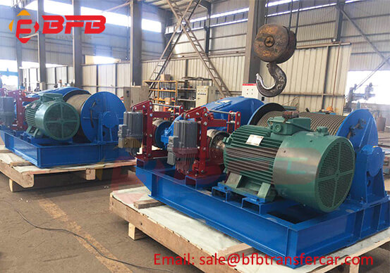 2 Sets Steel Wire Rope Electric winch 5 ton Exported Mexico