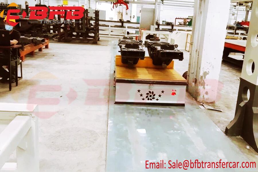 10 Ton Electric Trackless Agv Flat Car For Workshop Die Transport