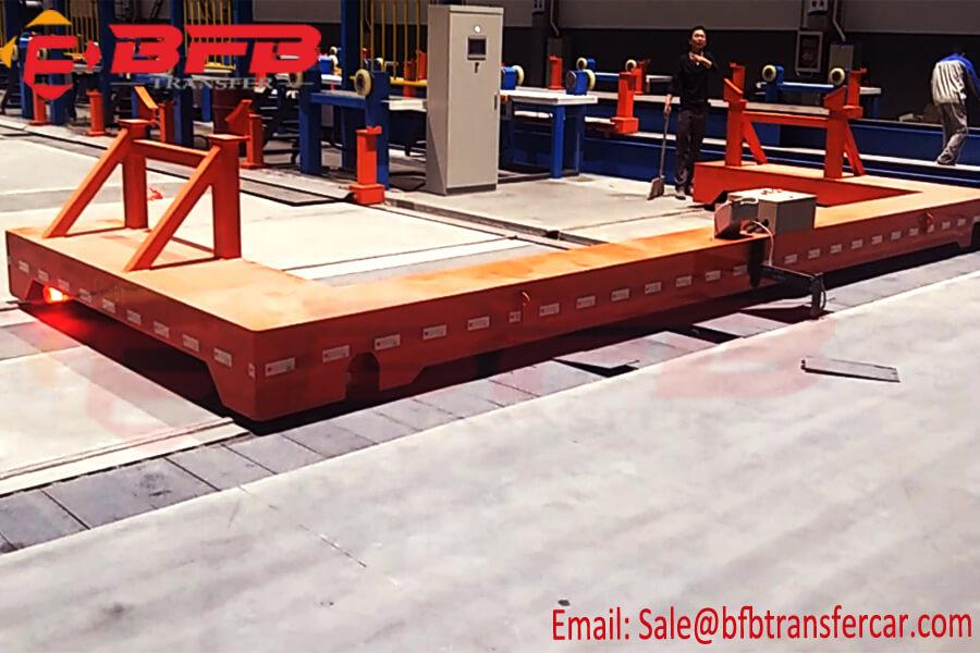 8MT C Type Platform Railway Motor Trolley For Workshop Tank Handling