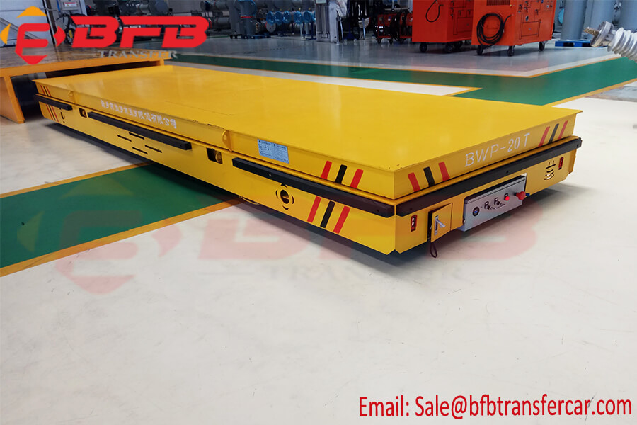 Electrical Industry Trackless Transfer Trolley 20 Ton With Lifting System On Floor