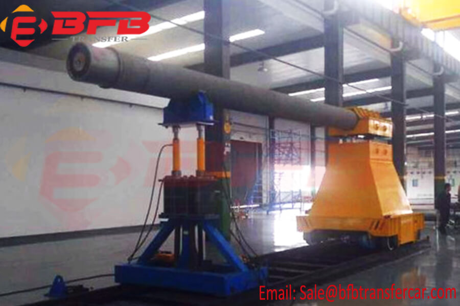 25 Ton Electric Rail Transfer Trolley For Steel Factory Axle Handling