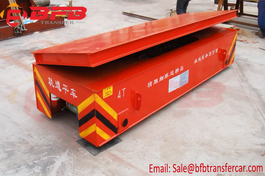 4 Ton Battery Powered Transfer Trolley With Loading Platform Lifting And Self Dumping