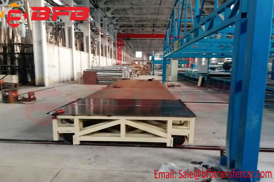18 Ton Rail Road Heavy Load Transfer Cart For Factory Turbines Handling