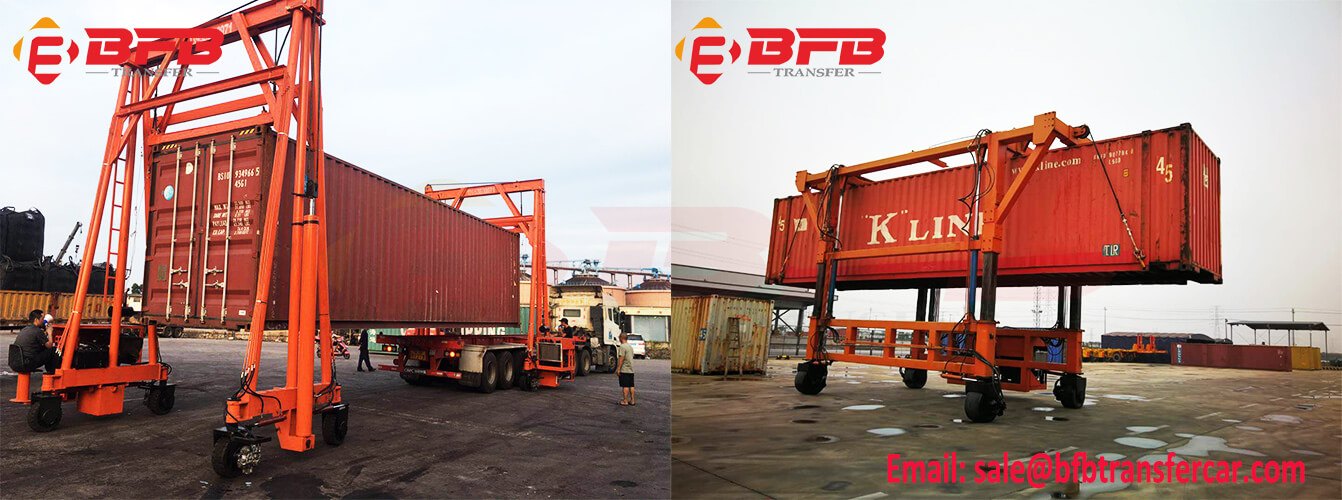 hydraulic crane for container handling