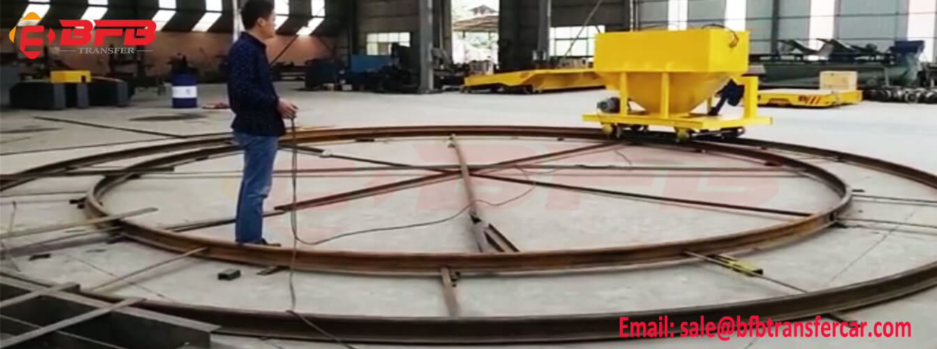 Automatic Hopper Dump Rail Transfer Cart