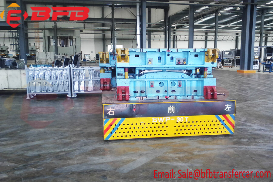 Programable Battery Powered Electrical 30 Ton Trolley For Mold Transfer