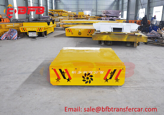 3 Ton Industrial Busbar Operated Rail Mount Transfer Cart With Circular Orbit Exported Oman