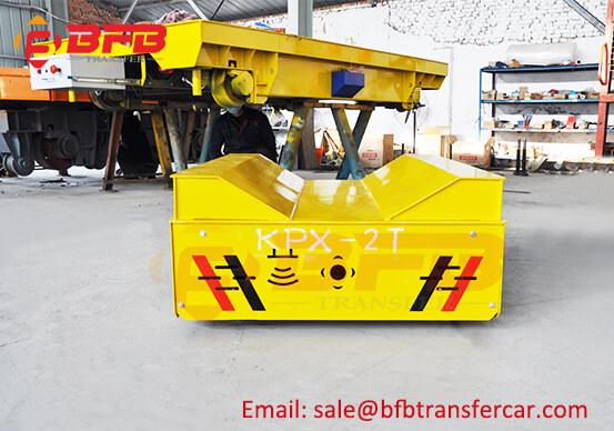 2T DC Motorized Rail Coil Transfer Trolley On Railways Exported Uzbekistan