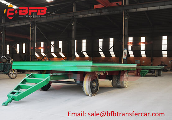 6t Indoor Transfer Trolley With Solid Rubber Tyres For Plastic Package Handling Exported Vietnam