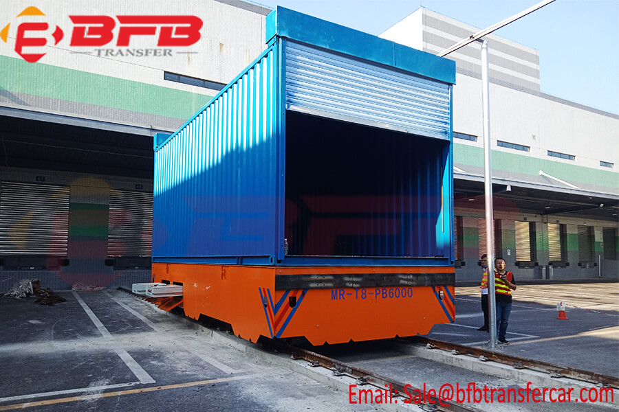 Customized 10T Rail Motorized Transfer Trolley For Container Handling