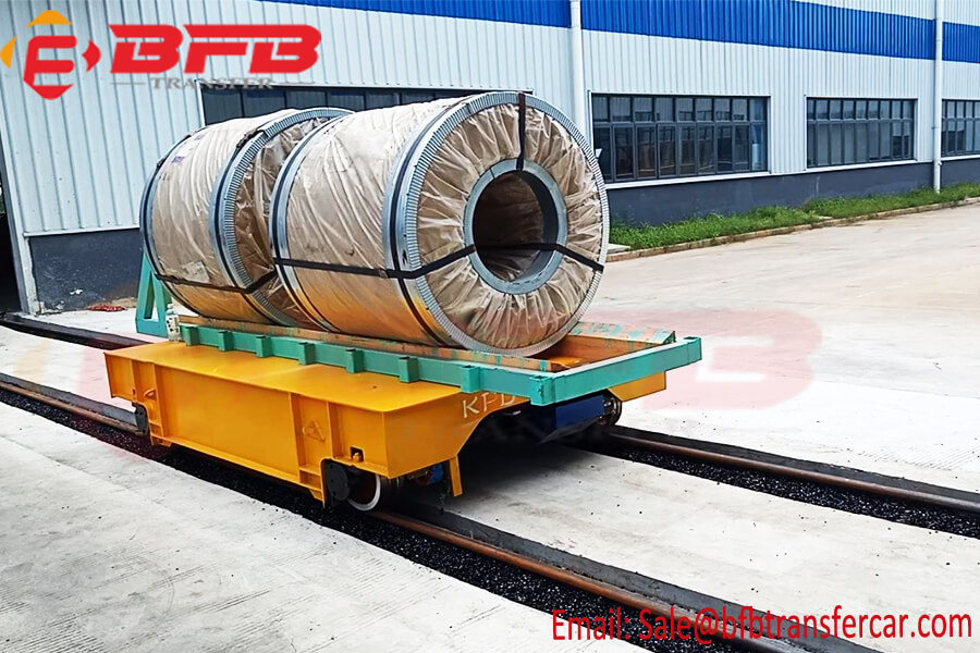 10T Electric Power Flat Rail Cart For Coil Handling Remote Control