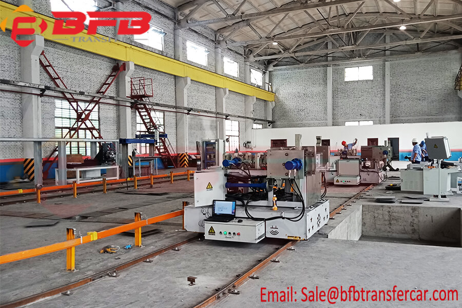 3MT Busbar Powered Industry Transfer Trolley On Rails With Turning System