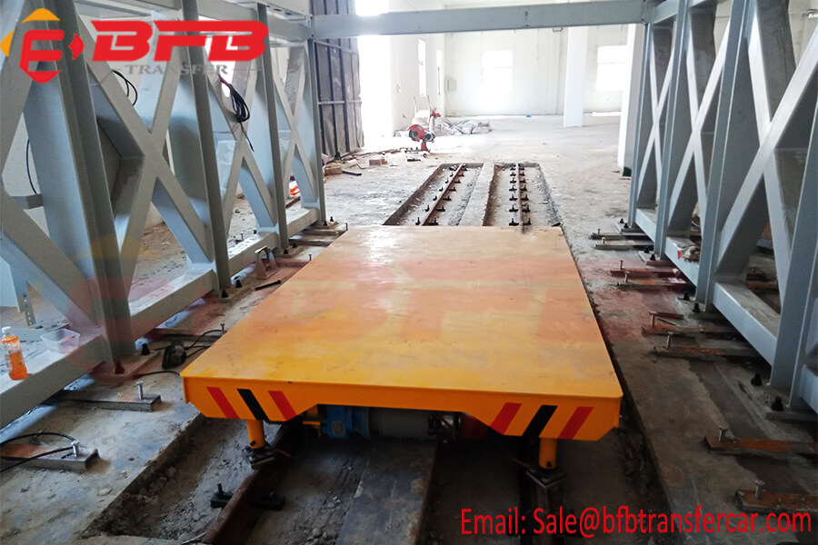 Workshop Flat Electric rail 10 ton railroad electrics trolley transference For Material Handling