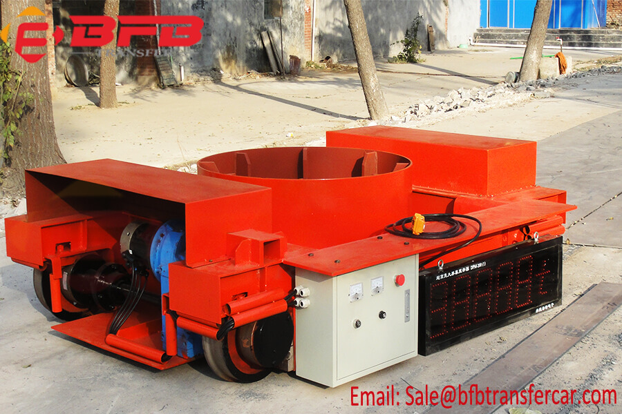 6 Ton Battery Powered Slag Pot Transfer Car With Weighing System For Hot Metal Ladle Transportation