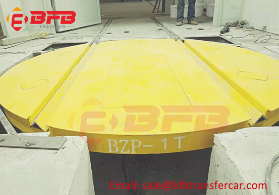 1T Workshop Industry Rail Turntable Manufacturer Technical Requirement