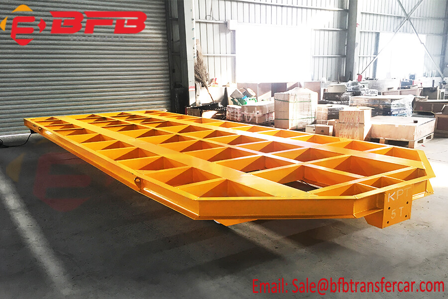 5 Ton Tow Cable Flatbed Motorized Transfer Rail Car Supplier For Locomotive Handling