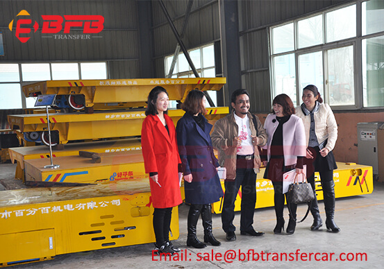BEFANBY Workshop Railroad Transfer Cart Tested By Indonesia Client