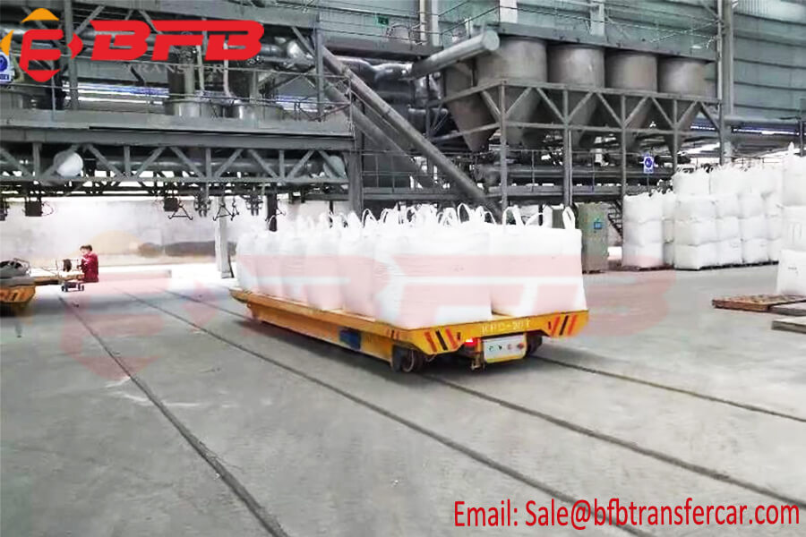 20T Electric Rail Transfer Platform Remote Control For Bulk Material Handling
