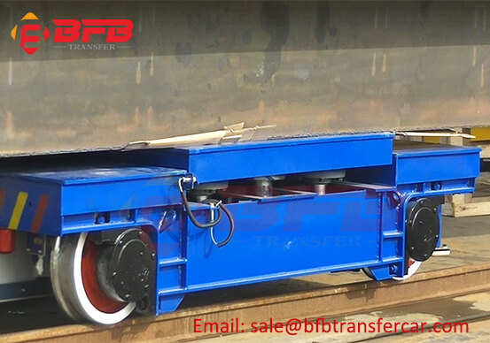 50T Rail Transfer Cart And 55T Railway Turntable Load Test Before Shipping
