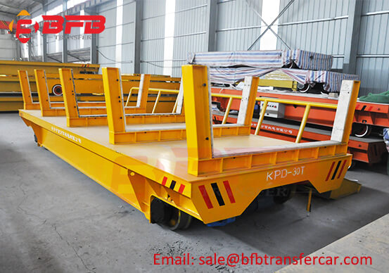 Transfer Trolley For Coils Handling Moved On Rails Powered By Conductor Rails