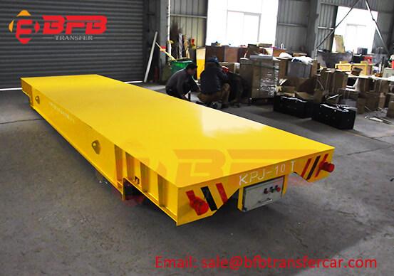 KPJ 10T Rails Movement Transfer Cart For Workshop Aluminum Strip Carrying Cable Drum Driven