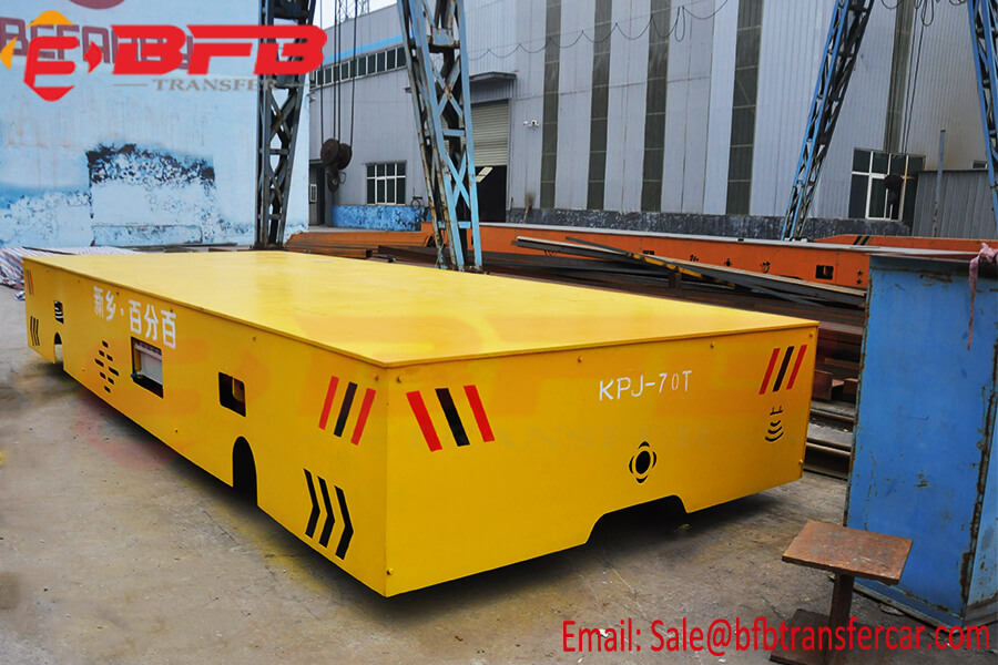 70 Ton Electric Powered Transfer Trolley On Rails With Anti - Explosion Military Workshop