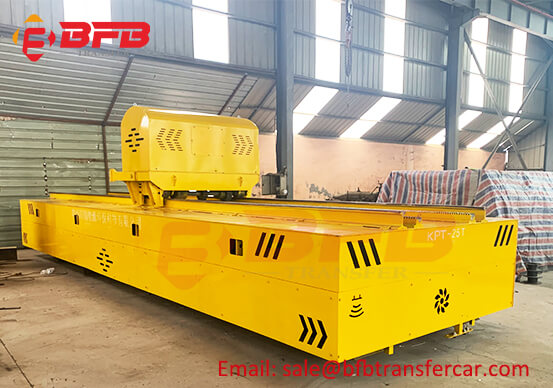 Anti Heat Track Transfer Cart With Ferry Tractor System For Coking Furnace Shop