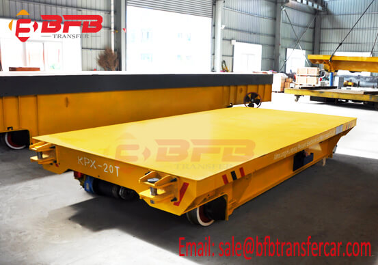 Iraq Railroad 20 Ton Battery Transfer Flatbed Trolley For Transport Gate On Dam
