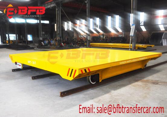 Australia 6 Wheel Battery Rail Transfer Platform 20T Load For Precast Decks Handling