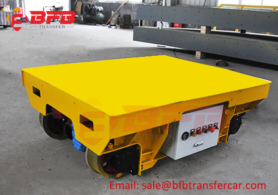 10T 20 Ton Motorized Mould Rail Trolley Manufacturer For Mold Workshop Transfer