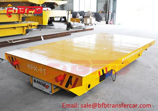 Aluminum Workshop Railway Motorized Turn Table Transfer Cart For Coils Transport