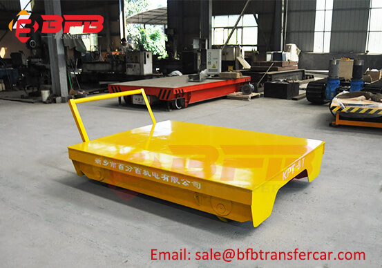 8 Ton Manual Push Industrial Handling Trailer Moved On Railway For Lab Box Transfer