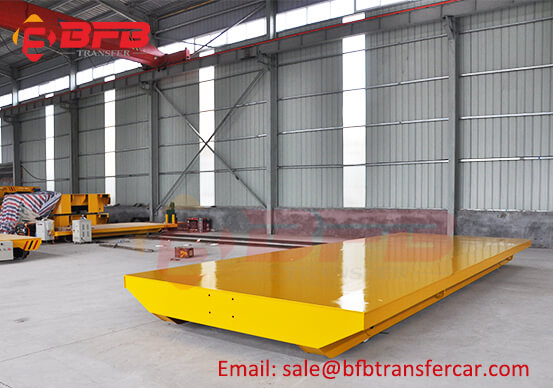 Explosion Proof Hand Powered Rail Car Flatbed Trolley For Spray Painting Room