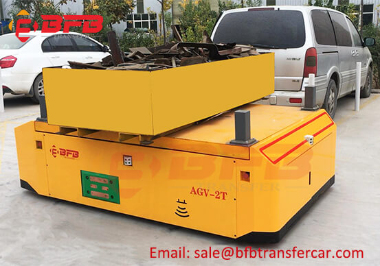 2T Laser Guided Agv Robot Automated Guided Carts With Lifting For Yard Shifting Rebar