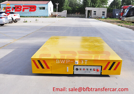 Thailand 3T Battery Trackless Steerable Transfer Trolley For Wire Coil Transportation