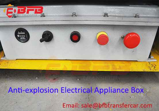 Spray Booth Battery Electric Railroad Transfer Freight Cart With Explosion Proof Protection