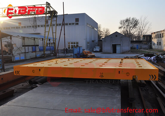 Battery Railroad Workshop Transport Electric Cart 20T For Printing Equipment Transfer