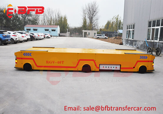 40 Ton Automatic Transfer Cart RGV Trolley With Lifting System For Military Industry