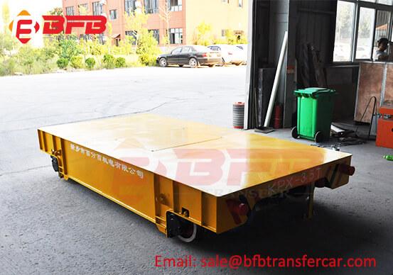 ISO Battery Power 3.5T Railroad Rail Transport Trolley For Steel Roller Transfer