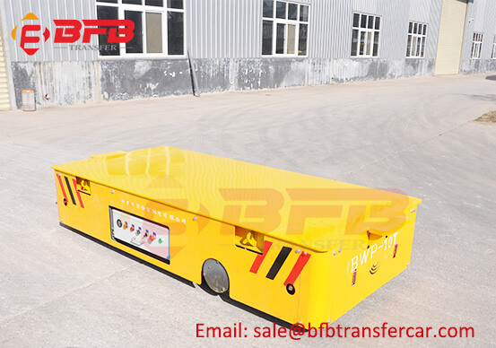 10T Mold Trackless Transfer Car With Manual Lifting System For Production Line
